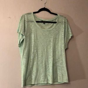 Topshop Sheer Green Tee